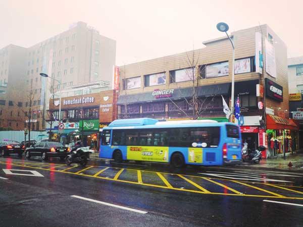 沖縄の国際通りに似た雰囲気のイテウォン