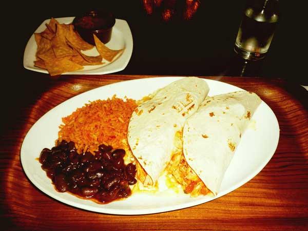 レストランで食べたメキシコ料理