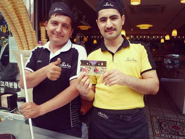 韓国梨泰院のトルコ料理屋の気さくな店員