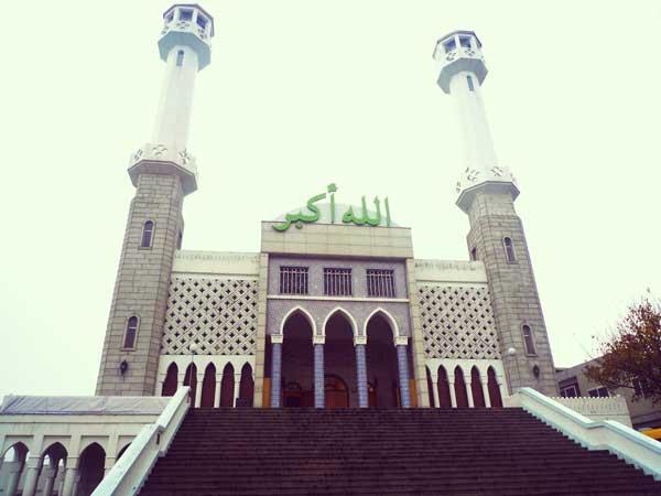 イテウォンにあるモスクの外観