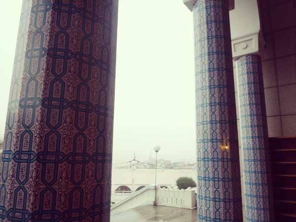 イテウォンにあるモスクの入口付近から見た景色