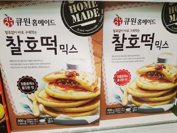 韓国のスーパーで売られている人気のホットク用の粉