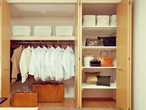 整理されている収納スペース