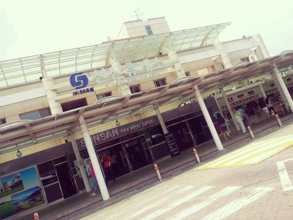 釜山に行く途中トイレ休憩に寄ったサービスエリア