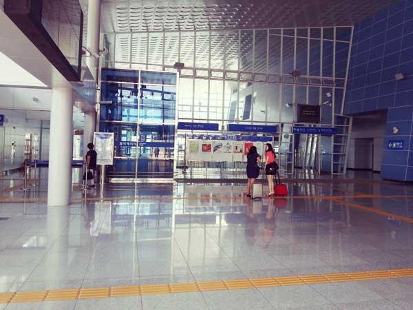 海雲台駅の構内