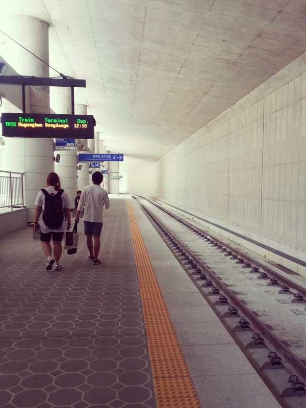 海雲台駅のホーム