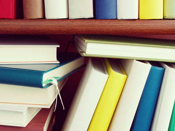 横置きと縦置きの本