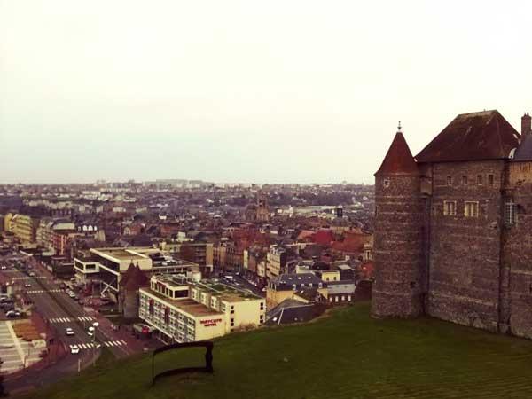 ディエップ城がある高台から眺めた街の景色