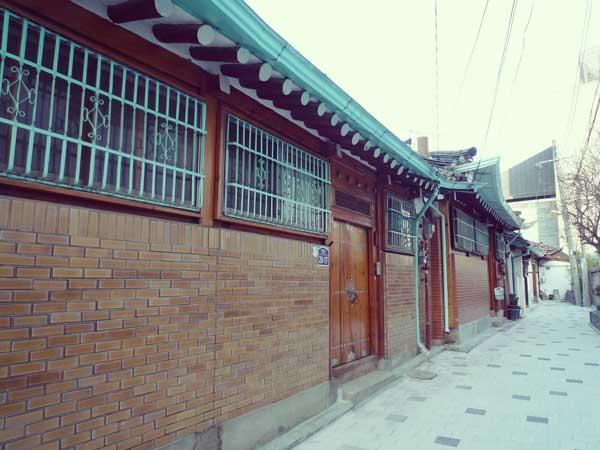 北村韓屋マウルの伝統的な韓屋