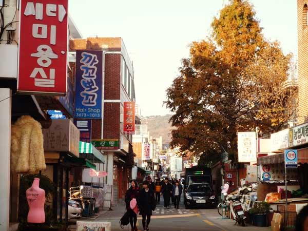 北村韓屋マウルエリアの商店街