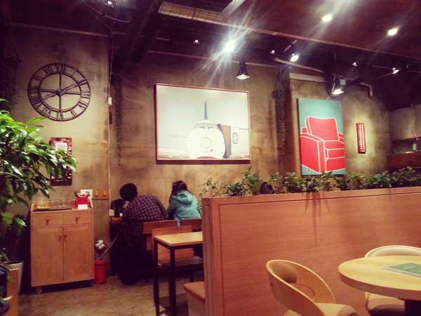 韓国弘大の羊カフェ店内の様子