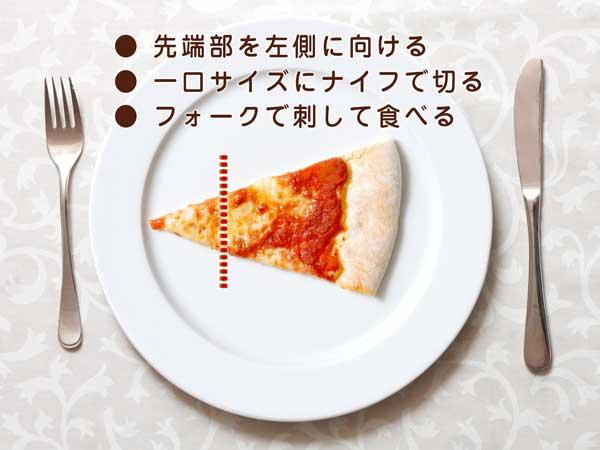 ピザの切り方のイラスト