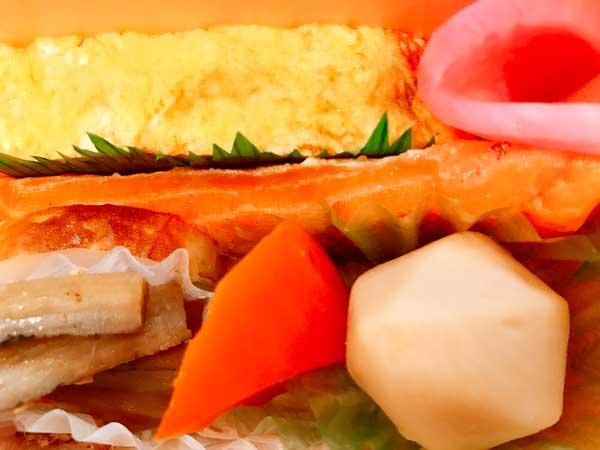 シンプルな味付けの海苔のりべんのおかず