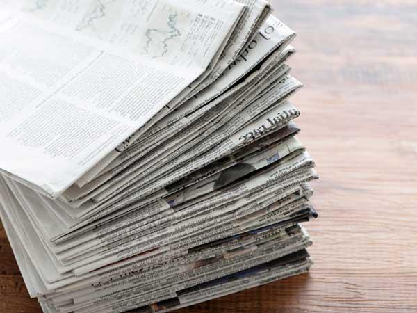 災害時用新聞紙
