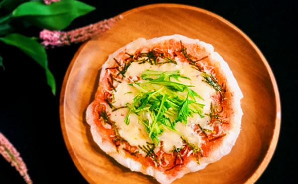 明太子としらすの餅ピザの作り方・残ったお餅も一気に食べ切れる