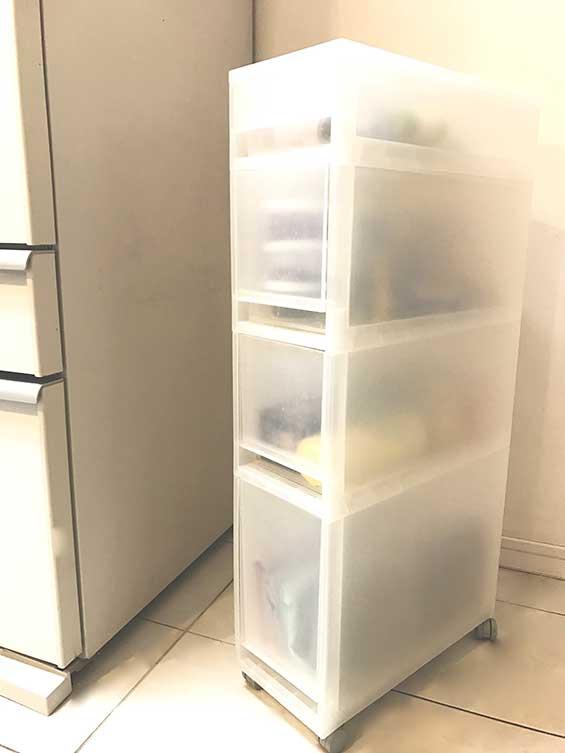 キャスター付きで移動できる無印良品の便利な収納ボックス