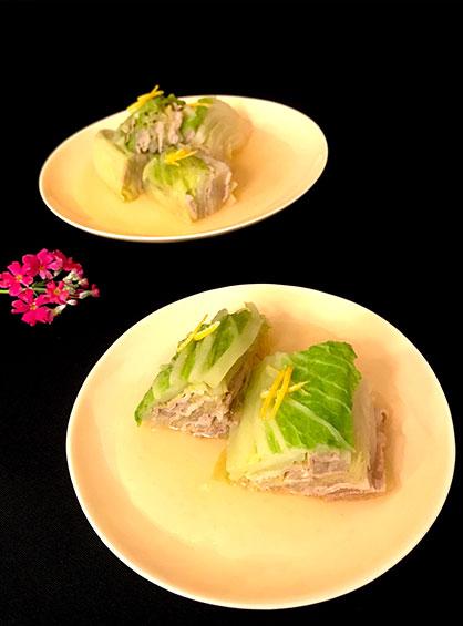 ご飯との相性抜群!白菜と豚肉のミルフィーユあんかけの作り方